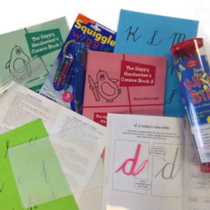 Cursive handwriting bundle available at The Happy Handwriter shop