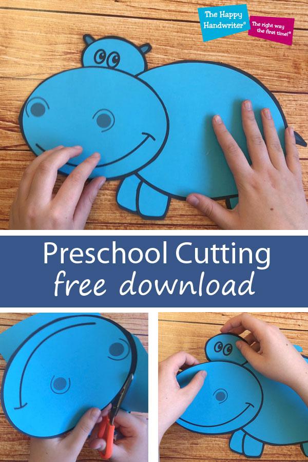 Free Practise Cutting Worksheet. Pre-School Cutting Skills