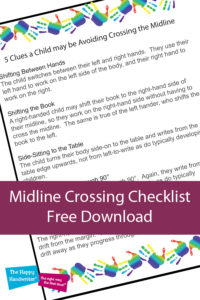 how does midline crossing affect school work, what does it mean to cross the midline, crossing midline exercises for kids, crossing the midline activities