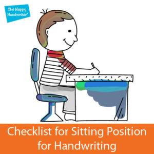 Posture for handwriting