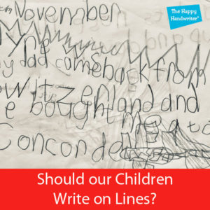 how to teach a child to write on the line, should children write on lines