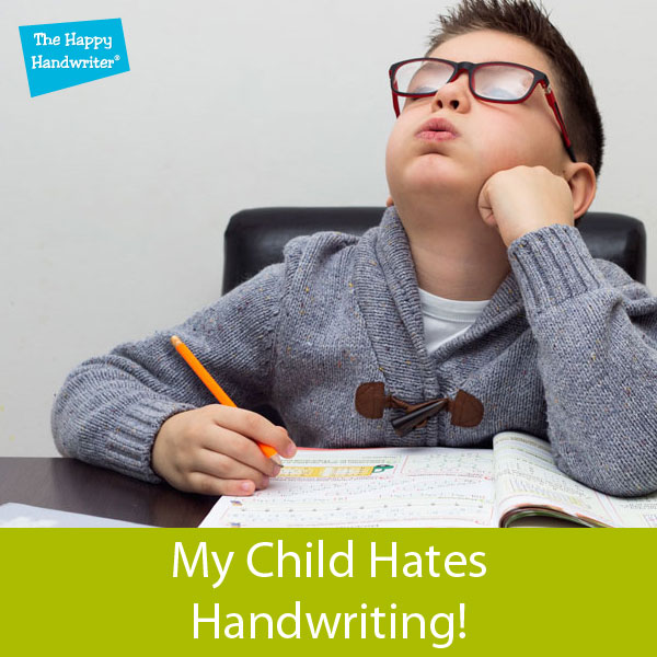 Kids who hate writing
