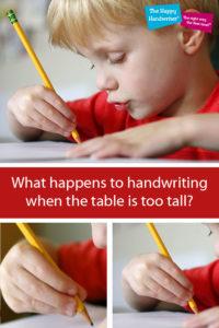 sitting posture and handwriting for kids, correct sitting posture for children, classroom sitting posture, how posture affects handwriting, handwriting ergonomics,