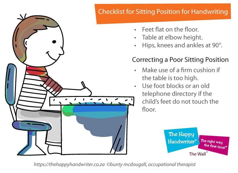 Sitting Posture and Handwriting for Kids   The Happy Handwriter