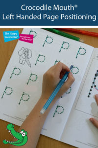 paper positioning for handwriting, tilting paper when writing, what is the best position to write, correct handwriting
