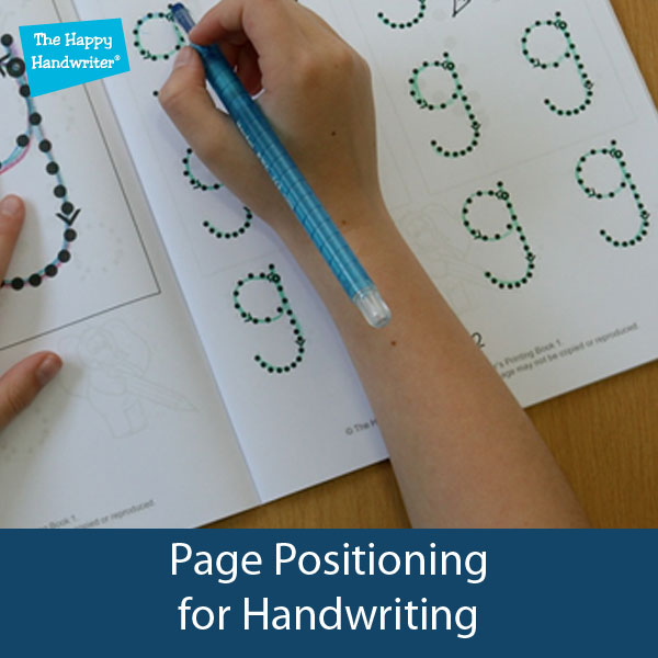 Positioning of a book for handwriting