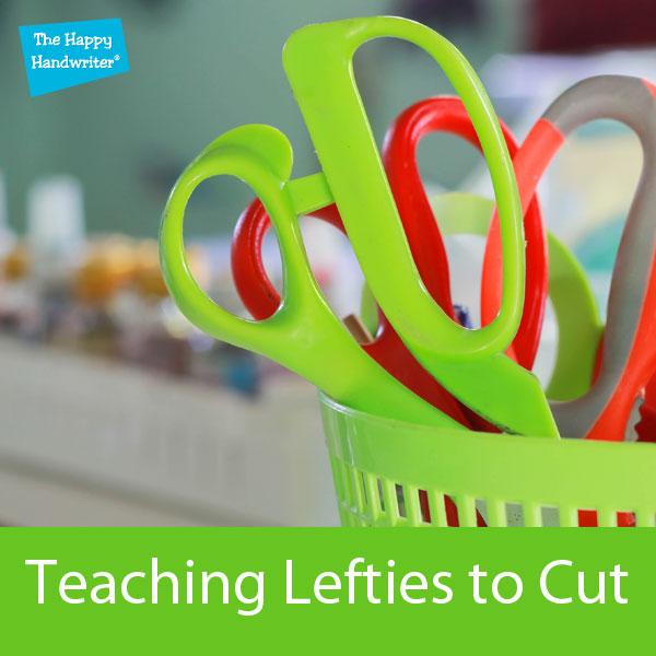 Teaching left-handed kids o cut