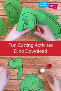 cutting download, scissor skills activites, dinosaur cutting activity