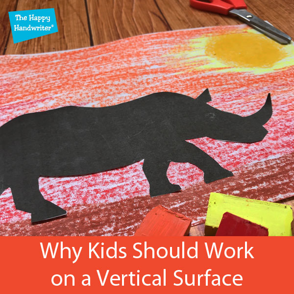 why kids should work on a vertical surface, what is a vertical surface, benefits of working on a vertical surface, drawing on a vertical surface occupational therapy, vertical surface writing, vertical surface activities, vertical surface fine motor skills, vertical surface activities occupational therapy