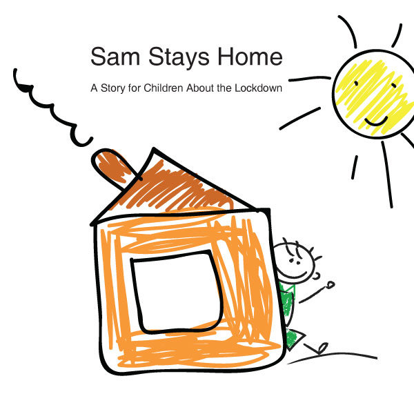 covid-19 story for children, inteactive reading sams stays hom, the happy handwriter, bunty mcdougall
