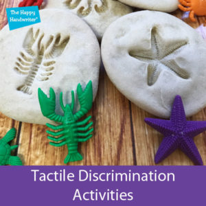 This blog post on The happy Handwriter explores tactile discrimination activities