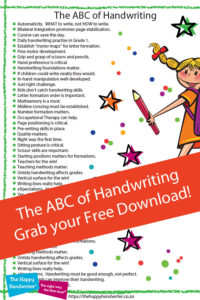 Get your download about the motor skills development of handwriting!