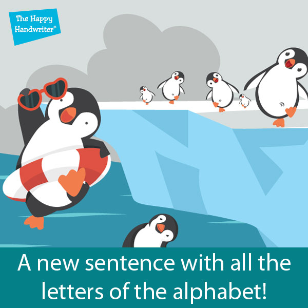 Looking for a sentence with all the letters of the alphabet? Here is a fun new option!